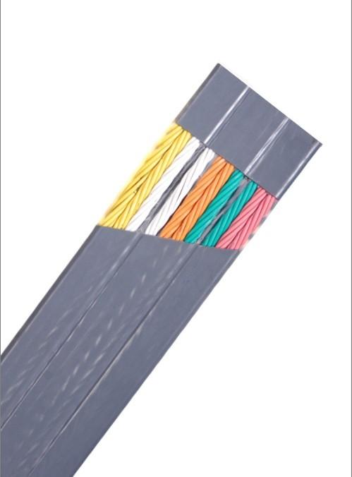 自承式扁平复合电梯监控专用电缆  聚氯乙烯绝缘及护套扁平电梯电缆