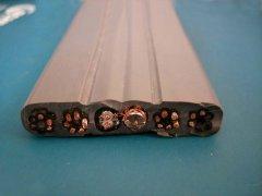 电梯移动扁电缆带视频线(组合电缆)