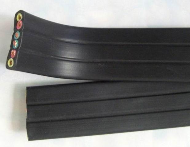zr-yffb 阻燃丁腈复合物绝缘和护套铜丝屏蔽移动扁平软电缆