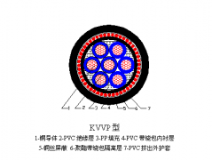 KVVP控制电缆结构图