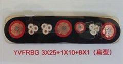 YVFRBG 3*25+1*10+8*1扁平电缆
