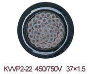 KVVP2-22 37*1.5铜带钢带双层铠装控制电缆