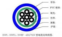 KVVP2 KVVRP控制电缆结构图