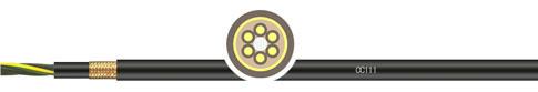 PVC甲胄式双护套拖链系统屏蔽控制电缆