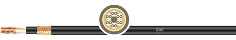 PUR甲胄式双护套拖链系统双屏蔽数据对绞电缆
