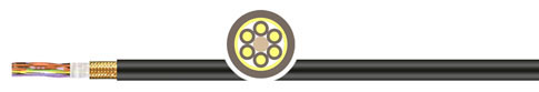 PVC外护套拖链系统屏蔽数据柔性电缆