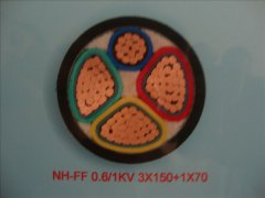 NH-FF 0.6/1KV 3*150+1*70耐火电力电缆