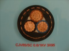 CJV85/SC 0.6/1KV 3*95船用电力电缆