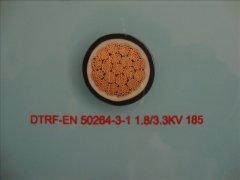 DTRF-EN 50264-3-1 1.8/3.3KV 185轨道交通车辆用电缆