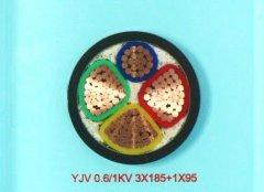 YJV 3*185+1*95铜芯交联电力电缆