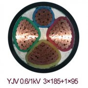 YJV-0.6/1KV 3*185+1*95交联电力电缆