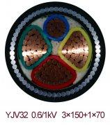 YJV32 3*150+1*70  钢丝铠装交联电力电缆