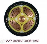 VVP 0.6/1KV 4*95+1*50 金属屏蔽电力电缆