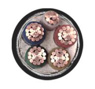 YJV22-4*95+1*50mm2交联钢带铠装电力电缆