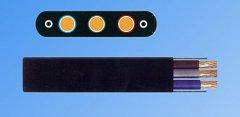 扁平电缆(抗拉带钢丝)