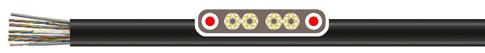 两端带钢丝PVC柔性扁平电缆