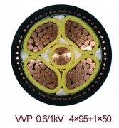 VVP 4*95+1*50电力屏蔽电缆及其他电力电缆型号规格