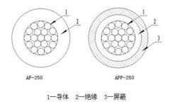 AF-250/AFP-250型氟塑料绝缘安装线缆结构图