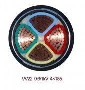 VV22 4*185电力电缆实物图