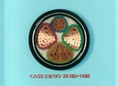 YJV22 3*185+1*95 铠装电力电缆