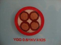 YGG 0.6/1KV 4*25硅橡胶移动柔性电缆