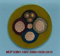 MCP 0.66/1.14KV 3*95+1*25+3*10矿用电缆