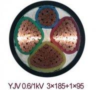 YJV 0.6/1 3*185+1*95电力电缆,动力电缆