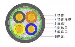 4*2.5,4*4,4*4,4*6,4*10,4*16,4*25屏蔽电缆结构图