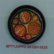 BPTYJVPP2 3*120+3*25变频器用屏蔽电缆,变频器专用电缆