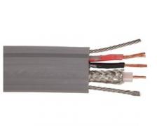 TVVBPG-SYV75-5+(2*0.75)P带双钢丝绳电梯随行视频扁电缆