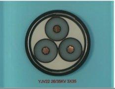 YJV22 3*35 26/35KV高压电缆