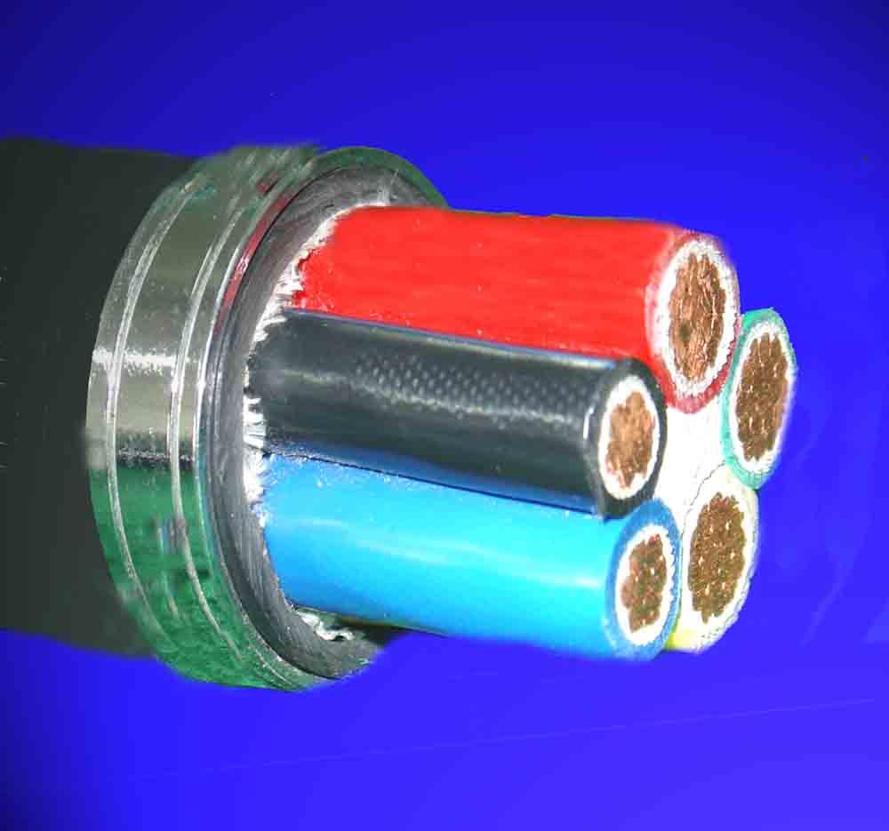 五芯铜导体低烟无卤电缆(图)