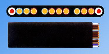 YVFBG卷筒用通讯扁平电缆(斗轮机电缆,推料机电缆)