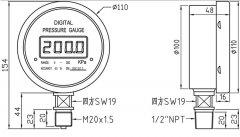 数显压力表CYF-100/ZHF-100