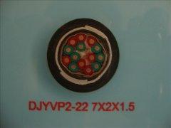 DJYVP2-22 0.3/0.5KV 7*2*1.5铠装计算机屏蔽电缆